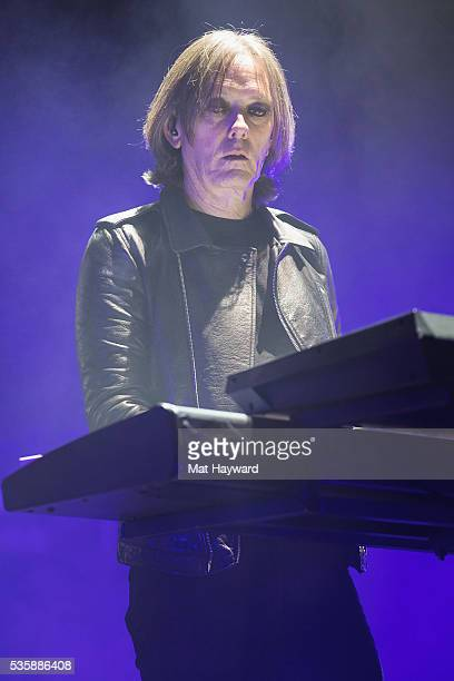 Roger O'Donnell of The Cure performs on stage during the Sasquatch Music Festival at Gorge Amphitheatre on May 29 2016 in George Washington