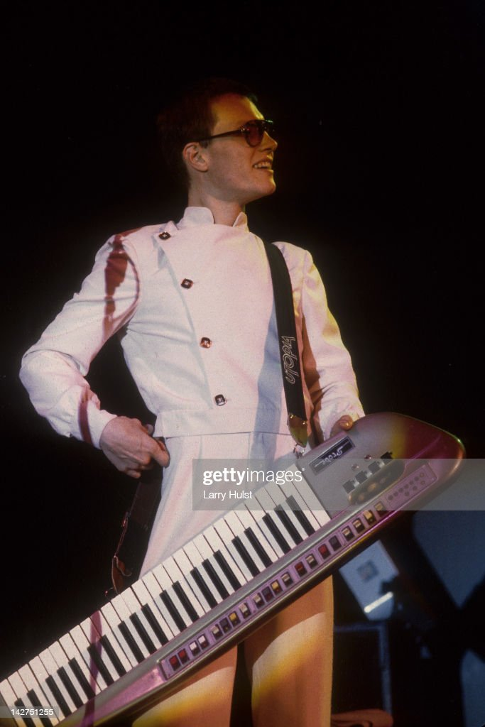 Roger Powell performing with 'Utopia' at Freeborn Hall in Davis, California on April 2, 1977.