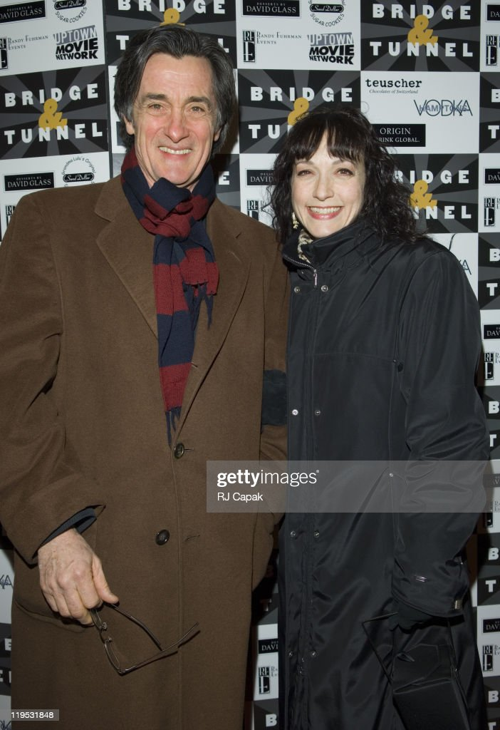 Roger Rees and Bebe Neuwirth during 'Bridge Tunnel' Broadway Opening Night Theatre Arrivals at Helen Hayes Theatre in New York City New York United...