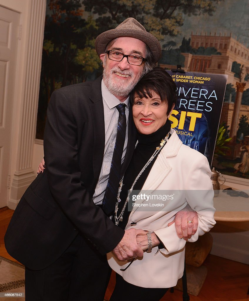 Roger Rees and Chita Rivera atend a special breakfast in honor of the new musical 'The Visit' at the home The Consul General of Switzerland...