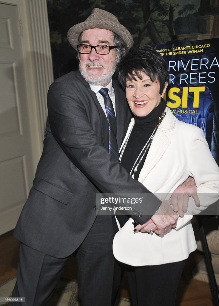 Roger Rees and Chita Rivera attend 'The Visit' breakfast at the Swiss Residence on March 13 2015 in New York City