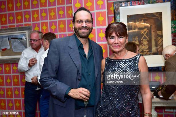Roger Reiss and Sylvie Beker attend the launch of The Collector Geneva's Sophie Bonvin Code Collection in Collaboration with artist Bill Claps at...