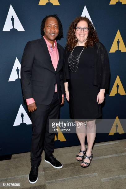 Roger Ross Williams and Julie Goldman attend the 89th Annual Academy Awards Oscar week reception for nominated films in the Documentary category at...