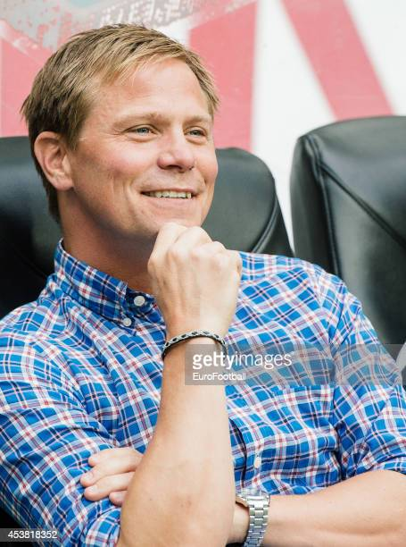 Roger Sandberg Head Coach of Gefle IF looks on during the Swedish Allsvenskan League match between AIK and Gefle IF at the Friends Arena on August...