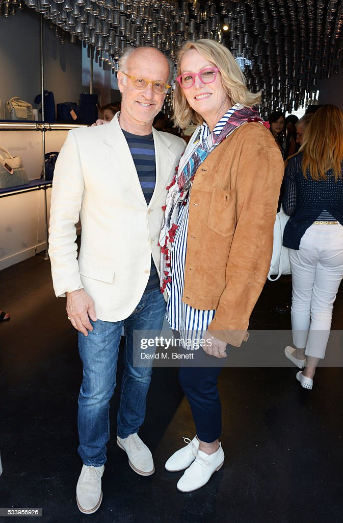 Roger Saul (L) and Monty Saul attend the Bottletop Regent Street store launch on May 24, 2016 in London, England.