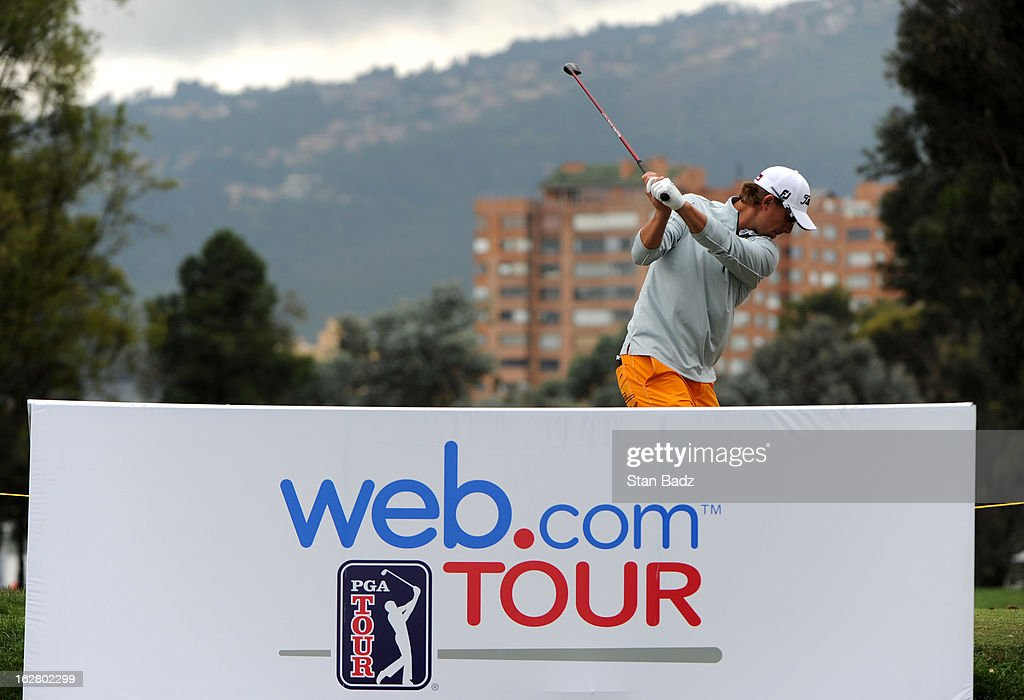 Roger Sloan hits a drive on the 11th hole during the practice round for the Colombia Championship at Country Club de Bogotá on February 27, 2013 in Bogotá, Colombia.