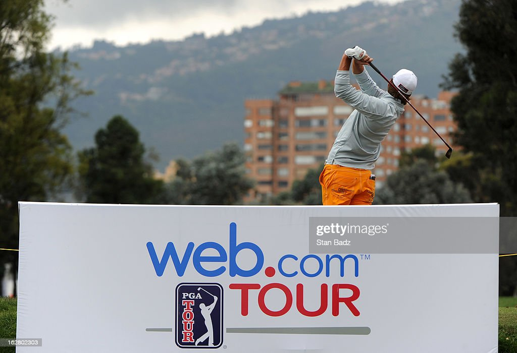 Roger Sloan hits a drive on the 11th hole during the practice round for the Colombia Championship at Country Club de Bogot‡ on February 27, 2013 in Bogot‡, Colombia.