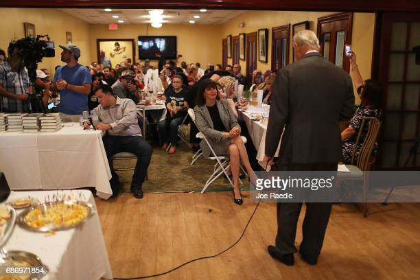 Roger Stone a longtime political adviser and friend to President Donald Trump speaks during a visit to the Women's Republican Club of Miami Federated...