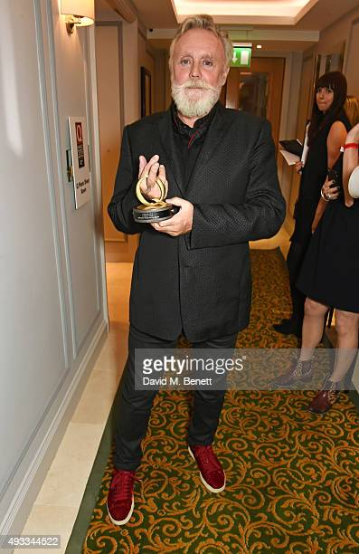 Roger Taylor accepts the Classic Single award on behalf of Queen for 'Bohemian Rhapsody' at The Q Awards at The Grosvenor House Hotel on October 19...