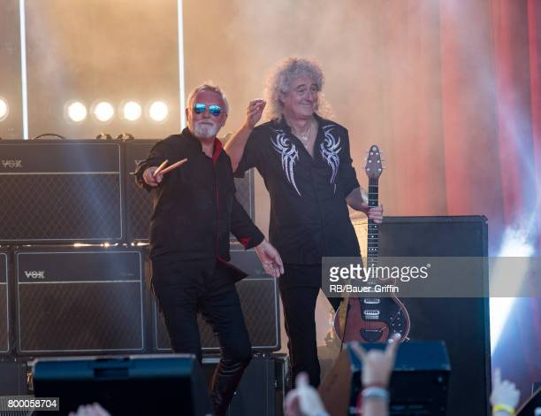 Roger Taylor and Brian May are seen at 'Jimmy Kimmel Live' on June 22 2017 in Los Angeles California