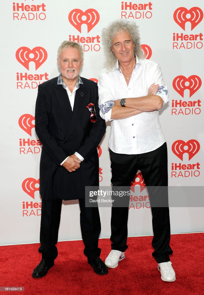 Roger Taylor (L) and <a gi-track='captionPersonalityLinkClicked' href=/galleries/search?phrase=Brian+May&family=editorial&specificpeople=158059 ng-click='$event.stopPropagation()'>Brian May</a> of Queen attend the iHeartRadio Music Festival at the MGM Grand Garden Arena on September 20, 2013 in Las Vegas, Nevada.