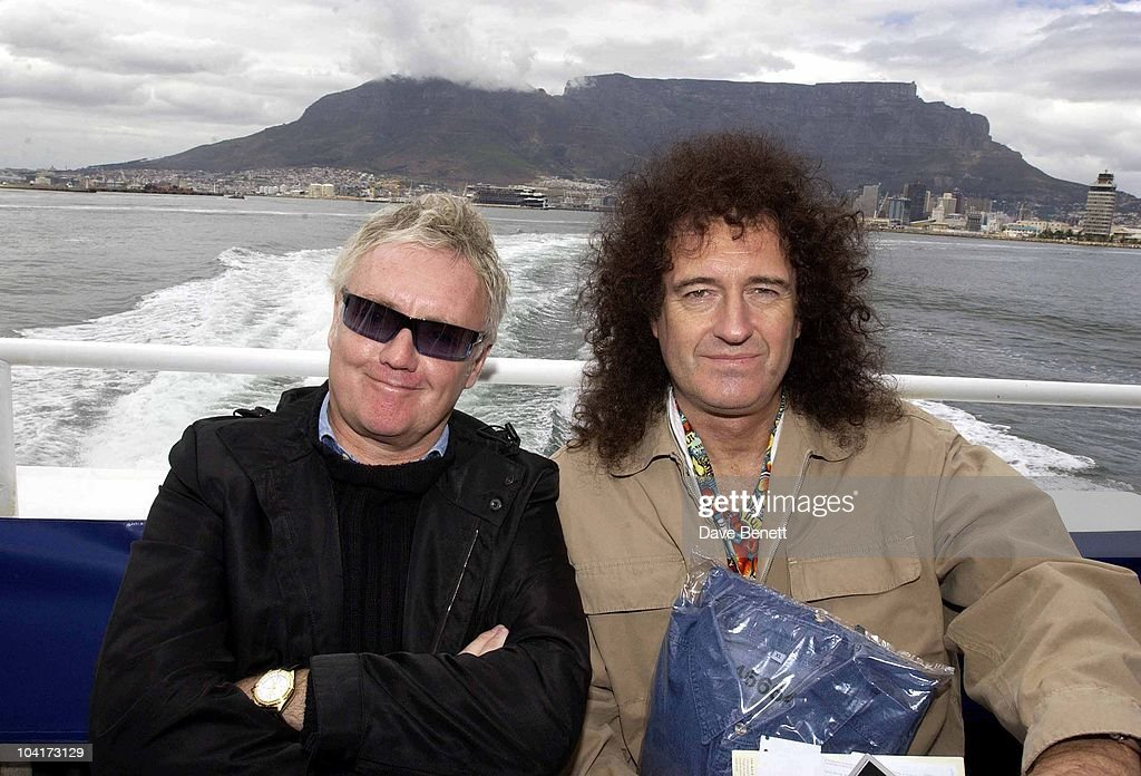 Roger Taylor And Brian May, The Stars Of Rock And Roll Join Forces For Nelson Mandela's 46664 Concert In Cape Town, South Africa. In The Pre, Concert Build Up The Artists And Mr Mandela Travelled To The Prison On Robben Island, Where Mr Mandela Was Imprisoned For 27 Years And Was Known Simple As Prisoner 46664, South Africa Gears Up For Aids Awareness Mandela Concert 46664. The Concert Is In Association With Mtv's Staying Alive & Www.46664.com Powered By Tiscali.