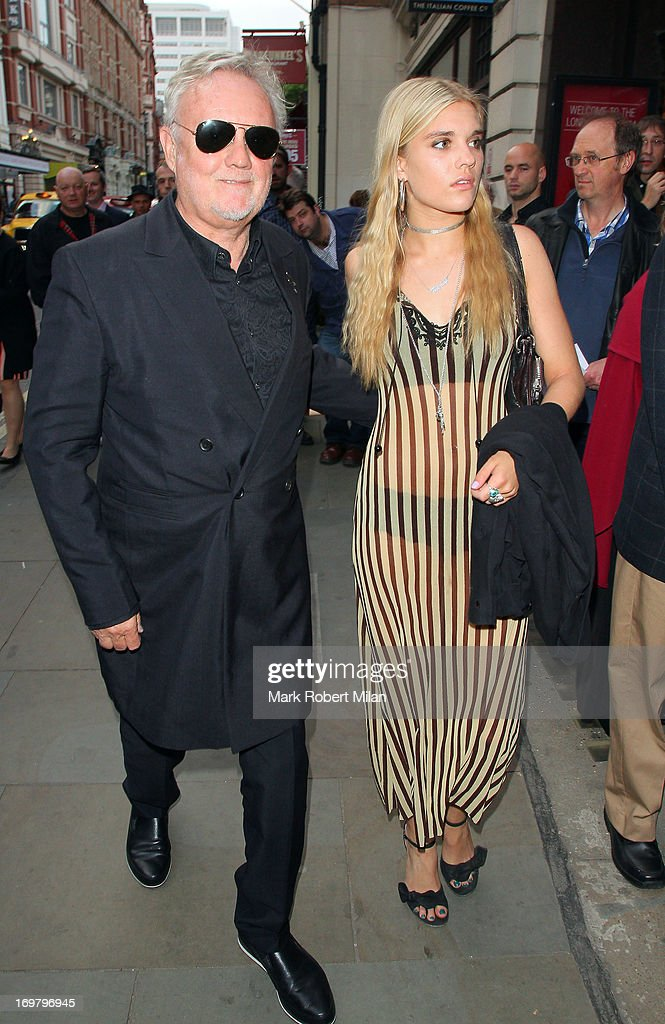 Roger Taylor and his daughter Tiger Lily Taylor attending The Perfect American press night on June 1, 2013 in London, England.