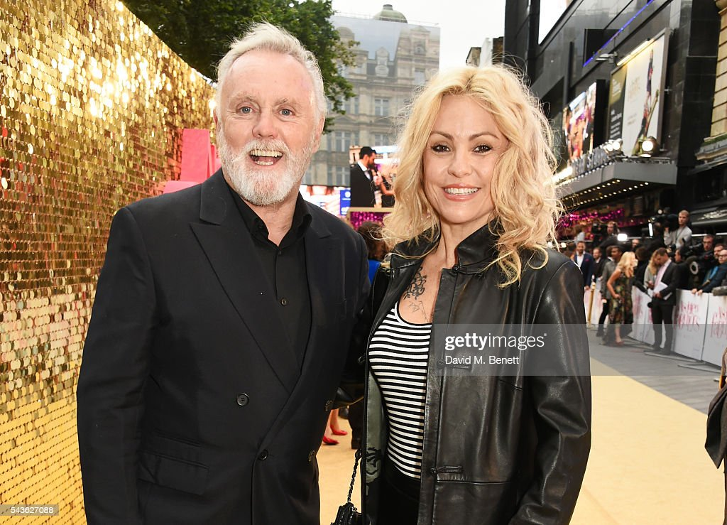 Roger Taylor (L) and Sarina Potgieter attend the World Premiere of 'Absolutely Fabulous: The Movie' at Odeon Leicester Square on June 29, 2016 in London, England.