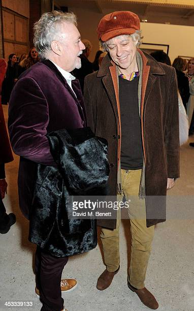 Roger Taylor and Sir Bob Geldof attend a private view of Nikolai Von Bismarck's new photography exhibition 'In Ethiopia' at 12 Francis Street Gallery...