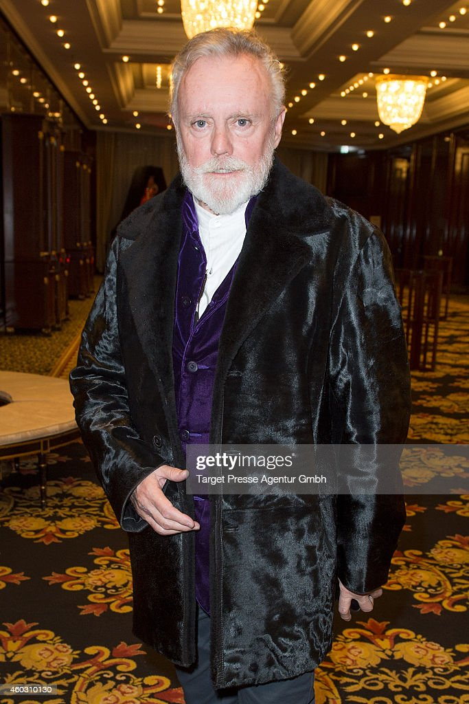 Roger Taylor attends the Queen and Adam Lambert photocall at Ritz Carlton on December 11, 2014 in Berlin, Germany.