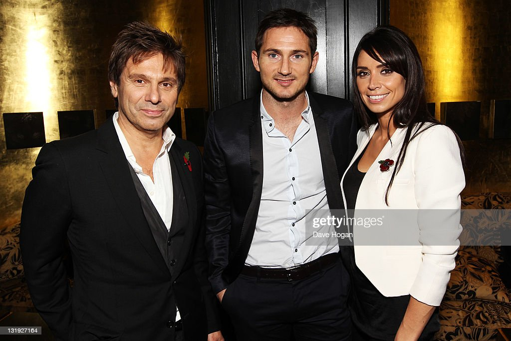 L-R Roger Taylor, Frank Lampard and Christine Bleakley attend the video launch of Duran Duran 'Girl Panic!' at The Savoy Hotel on November 8, 2011 in London, United Kingdom.
