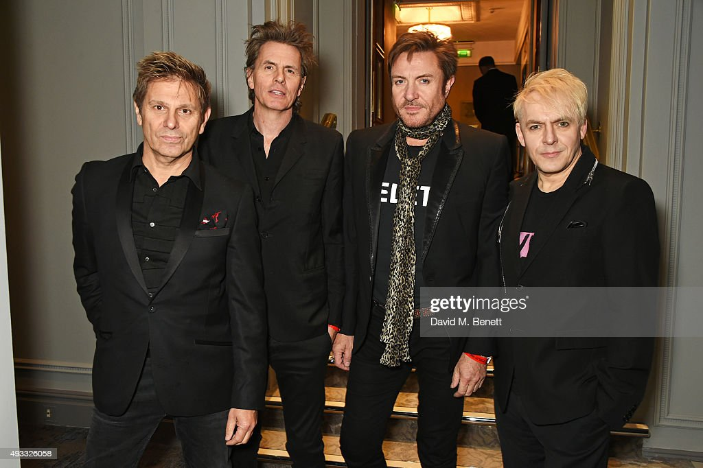 Roger Taylor John Taylor Simon Le Bon and Nick Rhodes of Duran Duran attend The Q Awards drinks reception at The Grosvenor House Hotel on October 19...