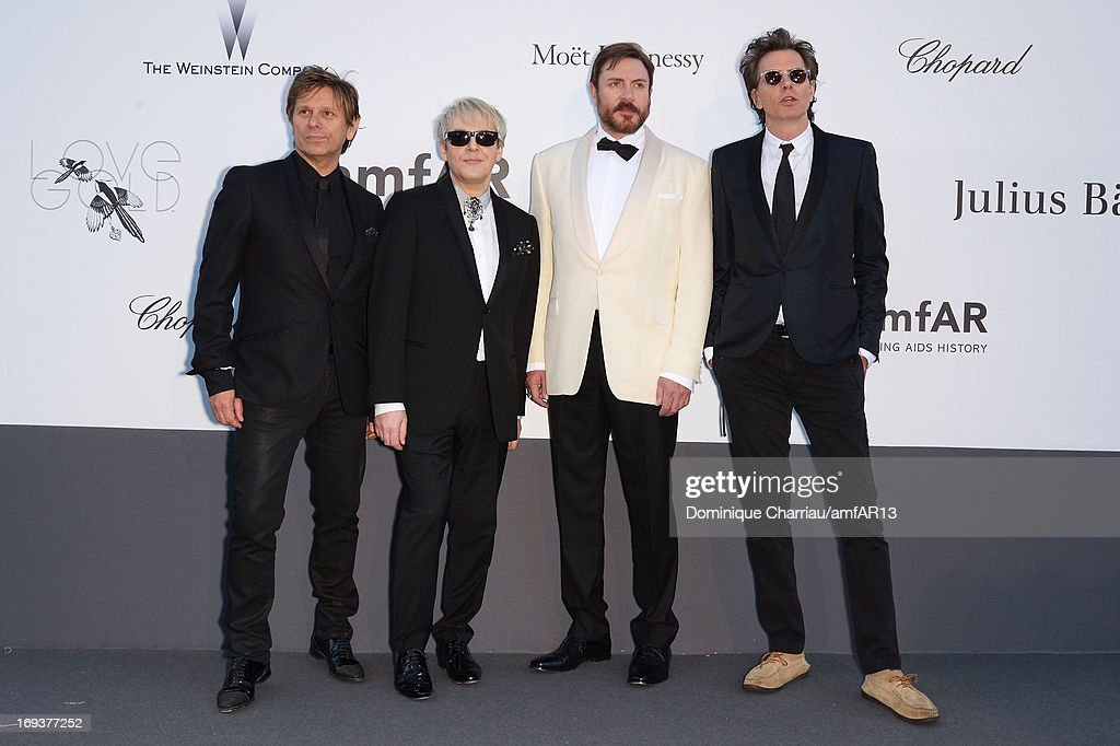 Roger Taylor, Nick Rhodes, Simon Le Bon and John Taylor of Duran Duran attends amfAR's 20th Annual Cinema Against AIDS during The 66th Annual Cannes Film Festival at Hotel du Cap-Eden-Roc on May 23, 2013 in Cap d'Antibes, France.