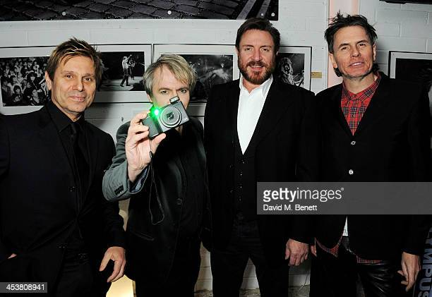 Roger Taylor Nick Rhodes Simon Le Bon and John Taylor of Duran Duran attend the launch of new book 'Duran Duran Denis O'Regan Careless Memories' at...