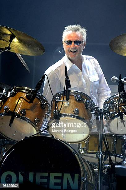 Roger Taylor of Queen performs at O2 arena on October 13 2008 in London Uk