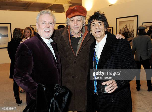 Roger Taylor Sir Bob Geldof and Ronnie Wood attend a private view of Nikolai Von Bismarck's new photography exhibition 'In Ethiopia' at 12 Francis...