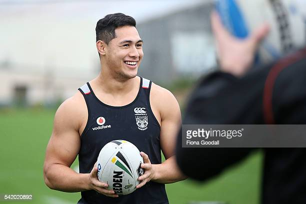 Roger TuivasaSheck with team mates during a New Zealand Warriors NRL training session at Mt Smart Stadium on June 22 2016 in Auckland New Zealand