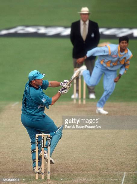 Roger Twose batting for New Zealand during the World Cup Super Six match between India and New Zealand at Trent Bridge Nottingham 12th June 1999 The...