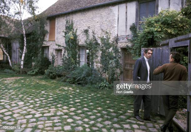 Roger Vadim and Friend during Jane Fonda's Home Paris France October 23 1970 at Jane Fonda's Home in Paris France