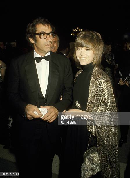 Roger Vadim and Jane Fonda during 42nd Annual Academy Awards at Dorothy Chandler Pavilion in Los Angeles California United States