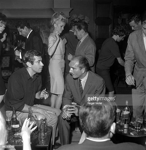 Roger Vadim Catherine Deneuve Eddie Barclay and Jean Lefebvre Paris Club SaintHilaire 1964 HA19777