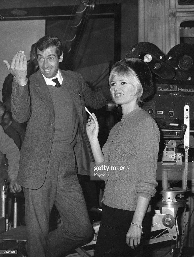 Roger Vadim (1928 - 2000), the French playboy and film producer in a film studio with <a gi-track='captionPersonalityLinkClicked' href=/galleries/search?phrase=Brigitte+Bardot&family=editorial&specificpeople=202903 ng-click='$event.stopPropagation()'>Brigitte Bardot</a>, the French film actress.