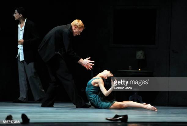 Roger Van der Poel MengKe Wu and Marne van Opstal in Nederlands Dans Theatre's production of Gabriela Carrizo's The Missing Door as part of the...
