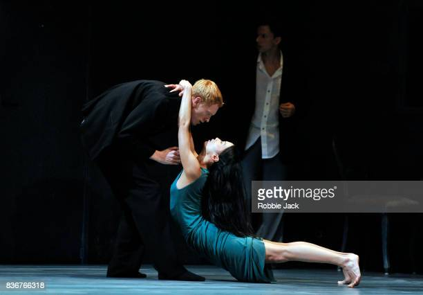 Roger Van der Pole MengKe Wu and Marne van Opstal in Nederlands Dans Theatre's production of Gabriela Carrizo's The Missing Door as part of the...