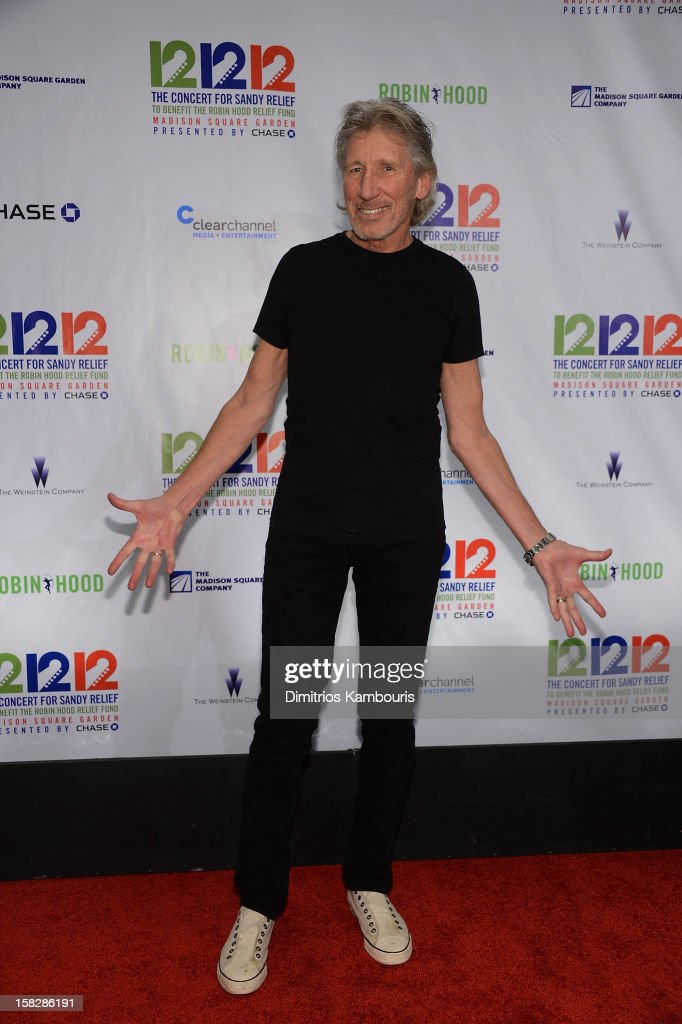 Roger Waters attends '12-12-12' a concert benefiting The Robin Hood Relief Fund to aid the victims of Hurricane Sandy presented by Clear Channel Media & Entertainment, The Madison Square Garden Company and The Weinstein Company at Madison Square Garden on December 12, 2012 in New York City.