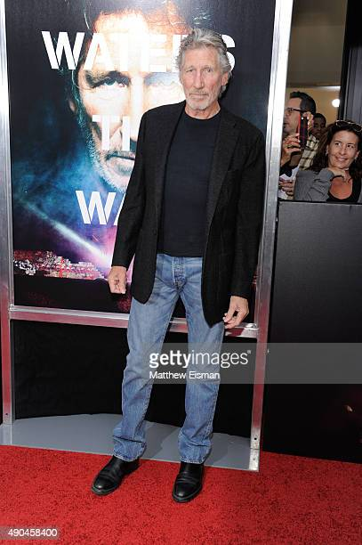 Roger Waters attends 'Roger Waters The Wall' New York Premiere at Ziegfeld Theater on September 28 2015 in New York City