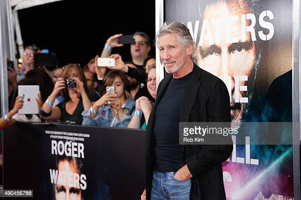 Roger Waters attends the New York Premiere of 'Roger Waters The Wall' at Ziegfeld Theater on September 28 2015 in New York City
