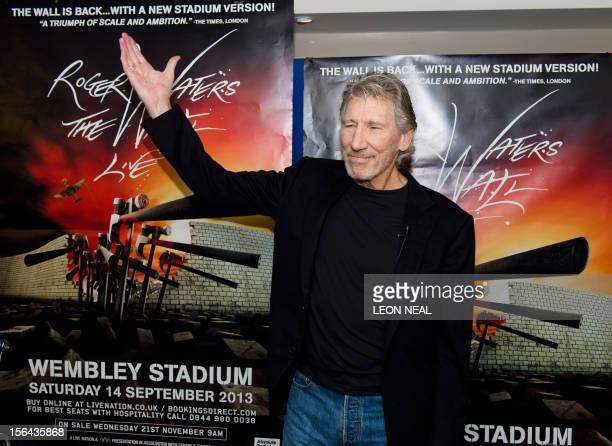 Roger Waters British musician and founding member of former rock band Pink Floyd poses for pictures ahead of a press conference at the Mayfair Hotel...