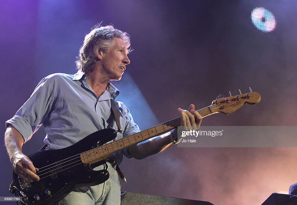 Roger Waters from Pink Floyd performs on stage at 'Live 8 London' in Hyde Park on July 2, 2005 in London, England. The free concert is one of ten simultaneous international gigs including Philadelphia, Berlin, Rome, Paris, Barrie, Tokyo, Cornwall, Moscow and Johannesburg. The concerts precede the G8 summit (July 6-8) to raising awareness for MAKEpovertyHISTORY.