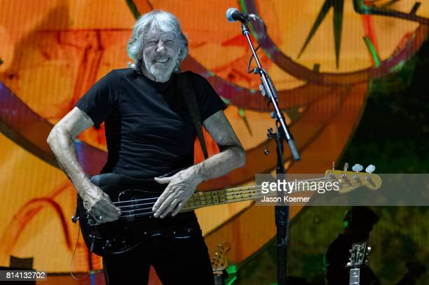 Roger Waters performs on stage at American Airlines Arena on July 13 2017 in Miami Florida