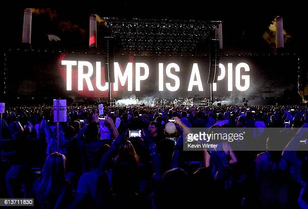 Roger Waters performs onstage during Desert Trip at the Empire Polo Field on October 9 2016 in Indio California
