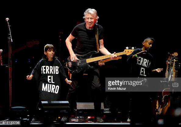 Roger Waters performs onstage during Desert Trip at The Empire Polo Club on October 16 2016 in Indio California