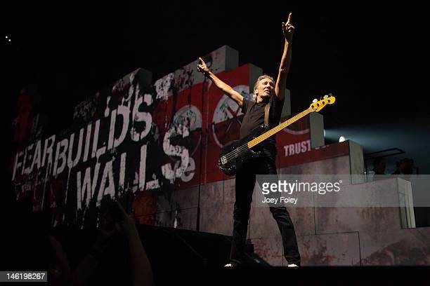 Roger Waters performs 'The Wall Live' at Bankers Life Fieldhouse on June 11 2012 in Indianapolis Indiana