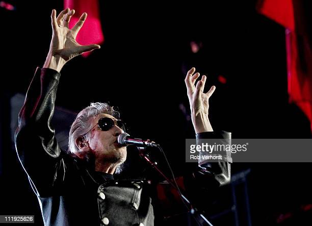 Roger Waters performs The Wall Live on stage at Gelredome on April 9 2011 in Arnhem Netherlands