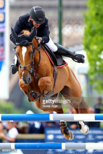 Roger Yves BOST riding SYDNEY UNE PRINCE during the Massimo Dutti Eiffel Challenge of the Longines Paris Eiffel Jumping on July 2 2017 in Paris France