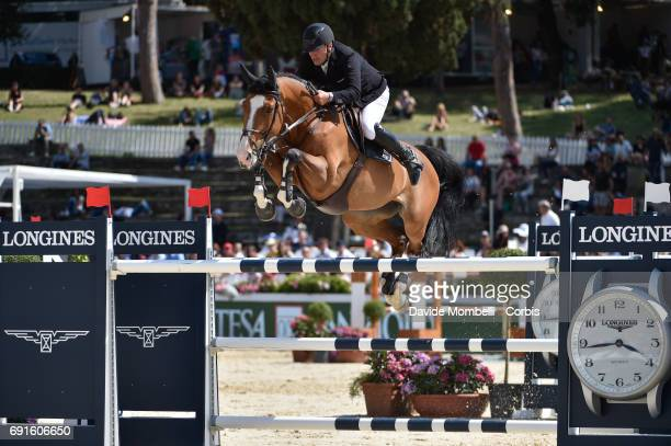 Roger Yves of France riding SANGRIA DU COTY during the Piazza di Siena Bank Intesa Sanpaolo in the Villa Borghese on May 27 2017 in Rome Italy