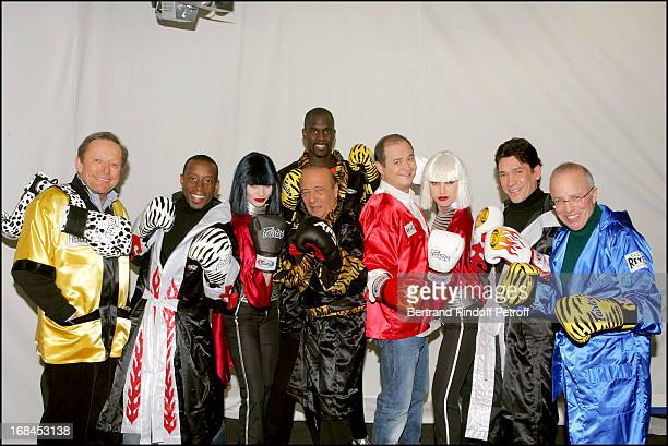 Roger Zabel David Felix Les Danseuses Du Crazy Horse Pascal Gentil Jacques Seguela Cauet Daniel Heroin and Thierry Roland at 'The Gala Ring 2005' At...