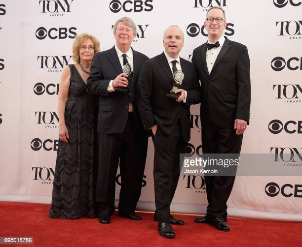 T Rogers and crew of 'Oslo' winner of Best Play poses in the press room during the 2017 Tony Awards at 3 West Club on June 11 2017 in New York City