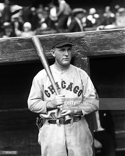 Rogers Hornsby of the Chicago Cubs at bat in 1929