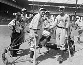 Rogers Hornsby the fourth manager of three National League Clubs is shown here as the Manager of St Louis Browns after he took over his duties in a...